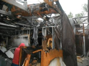 Margate burned down house in Broward next to Stranahan River.